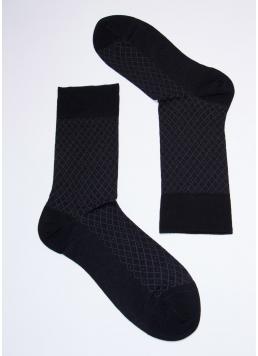 Чоловічі високі шкарпетки MS3C / Sl-204 black (чорний)