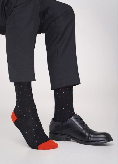 Шкарпетки в горошок чоловічі MS3C / Sl-402 (ELEGANT 402 calzino) Giulia