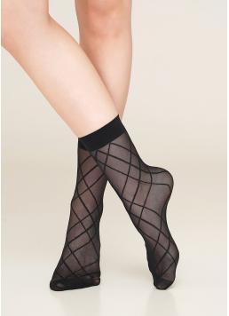 Жіночі шкарпетки з геометричним малюнком DN 04 Giulia