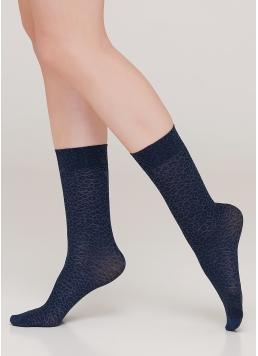Жіночі високі шкарпетки MN-01 calzino riverside (блакитний)