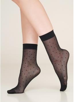 Жіночі шкарпетки в горошок NN-04 calzino nero (чорний)