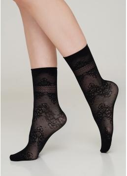 Жіночі шкарпетки з квітковим малюнком NN-10 calzino Giulia
