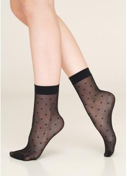 Жіночі шкарпетки в дрібні сердечка NN-16 calzino Giulia