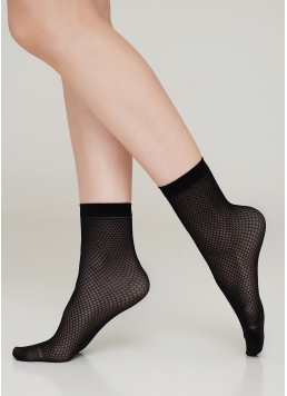 """Жіночі шкарпетки з малюнком """"сітка"""" RN-04 calzino Giulia"""
