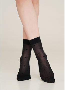 Жіночі шкарпетки з імітацією дрібної сітки з малюнком RN-06 calzino 40 Den Giulia