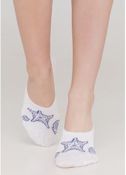 Жіночі шкарпетки підслідники WF1 MARINE 010 (білий) Giulia