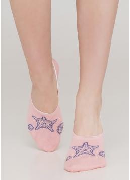 Жіночі шкарпетки підслідники WF1 MARINE 010 (рожевий) Giulia