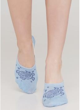 Жіночі шкарпетки підслідники WF1 MARINE 011 (блакитний)