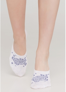 Жіночі шкарпетки підслідники WF1 MARINE 011 (білий) Giulia