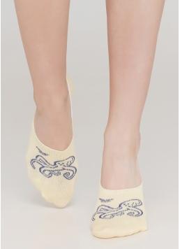 Жіночі шкарпетки підслідники WF1 MARINE 012 (жовтий)