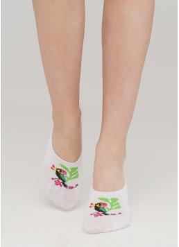 Жіночі шкарпетки сліди з малюнком WF1 TROPIC 002 (білий)