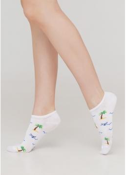 Жіночі короткі шкарпетки WS0 MARINE 012 (білий)