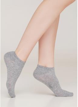 Жіночі короткі шкарпетки WS1 CLASSIC light grey melange/white (меланж)