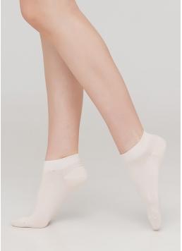 Жіночі короткі шкарпетки WS1 CLASSIC panna (білий)
