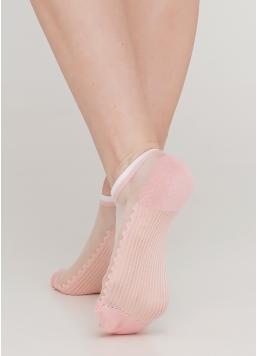 Шкарпетки короткі прозорі з бавовняною стопою WS1 CRISTAL 029 (рожевий)