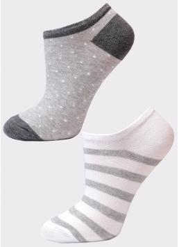 Жіночі короткі шкарпетки (2 пари) WS1 FASHION 045 + WS1 FASHION 048