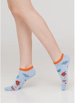 Жіночі короткі шкарпетки WS1 MARINE 011 (блакитний) Giulia