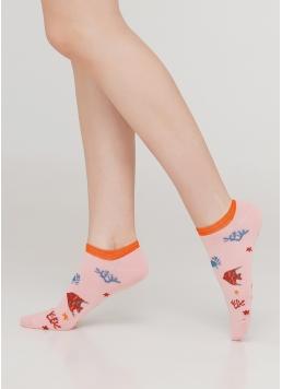 Жіночі короткі шкарпетки WS1 MARINE 011 (рожевий)