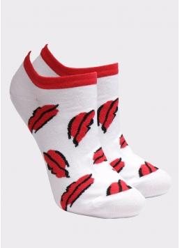 Жіночі короткі шкарпетки з принтом WS1 SOFT VALENTINE 002 Giulia