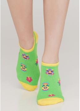 Шкарпетки короткі жіночі з малюнком WS1 TROPIC 001 (зелений) Giulia