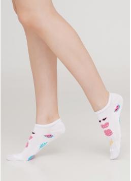 Шкарпетки короткі з тропічним малюнком WS1 TROPIC 002 (білий)