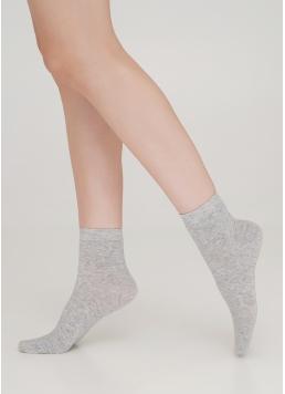Бавовняні шкарпетки жіночі класичні WS2 CLASSIC light grey melange (сірий меланж) Giulia