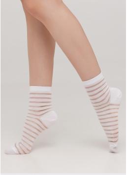 Прозорі жіночі шкарпетки в смужку WS2 CRISTAL 002 [WS2C/Mn-002]