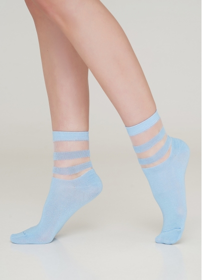 Жіночі бавовняні шкарпетки зі вставками з мононитки WS2 CRISTAL 017 [WS2C/Mn-017] Giulia