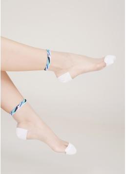 Жіночі шкарпетки з бавовни та прозорої мононитки WS2 CRISTAL 041