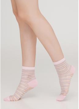 Шкарпетки прозорі в смужку WS2 CRISTAL 059