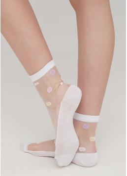Жіночі прозорі носки в горох WS2 CRISTAL 064 Giulia