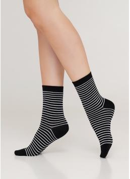 Жіночі бавовняні шкарпетки WS3 BASIC 002 (чорний) Giulia
