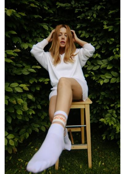 """Високі жіночі шкарпетки з написом """"КРАСИВО"""" WS3 CRISTAL STRONG TINA 001"""