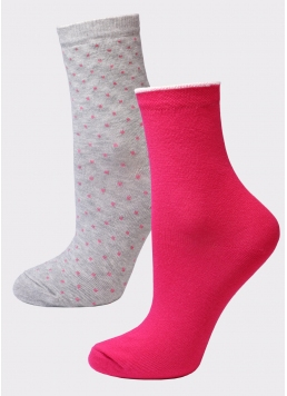 Жіночі бавовняні шкарпетки (2 пари) WS3 FASHION 052 + WS3 FASHION 056 Giulia