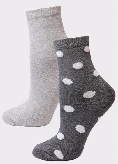 Жіночі бавовняні шкарпетки (2 пари)  WS3 FASHION 055 + WS3 CLASSIC Giulia