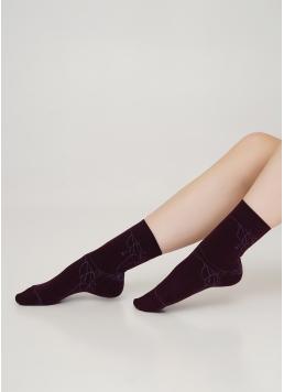 Бавовняні шкарпетки з малюнком павутиння WS3 HALLOWEEN 006 vintage grape (фіолетовий)