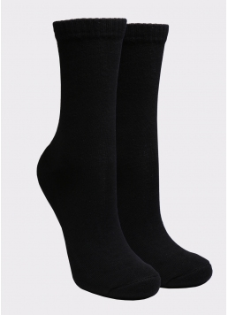 Жіночі теплі шкарпетки WS3 TERRY CLASSIC 003 black (чорний)