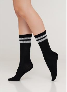 Жіночі високі шкарпетки з люрексовими смужками WS4 STRONG 020 [WS4C-020]