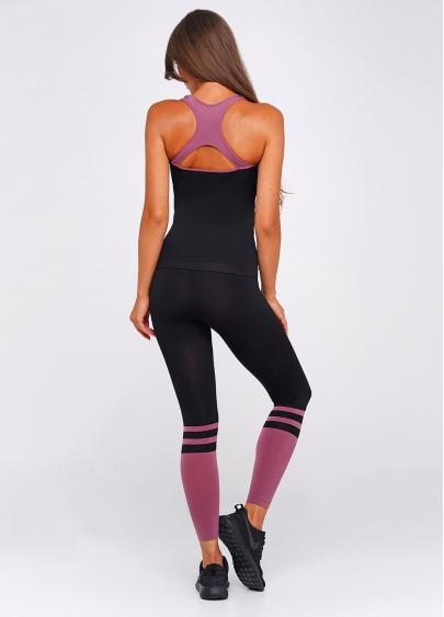 Жіноча майка для спорту CANOTTA SPORT ENERGY (чорний/рожевий)