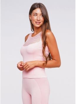 Майка спортивна жіноча CANOTTA SPORT RETE ESSENTIAL (рожевий)