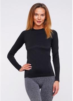 Спортивна футболка з довгим рукавом жіноча T-SHIRT SPORT RUN 02 (чорний) Giulia