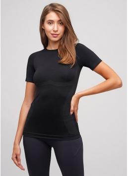 Жіноча спортивна футболка T-SHIRT SPORT RUN 04 (чорний)