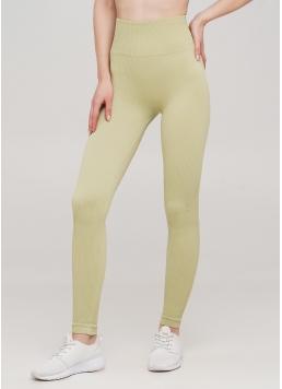 Легінси в рубчик з моделюючим швом ззаду LEGGINGS RIB (оливковий)