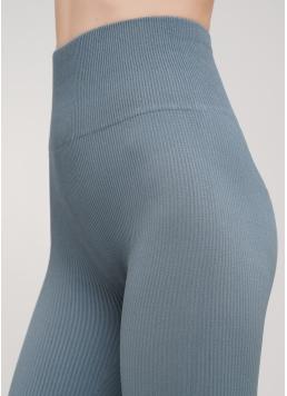 Легінси в рубчик з моделюючим швом ззаду LEGGINGS RIB (блакитний) Giulia