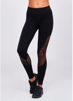 Безшовні спортивні лосини LEGGINGS SPORT RETE ESSENTIAL (чорний)