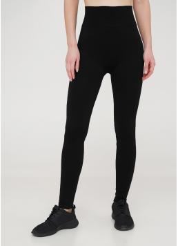 Легінси з широким поясом і бокоми швами Leggings Free black (чорний)